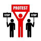 Demonstration of protest Royalty Free Stock Photos