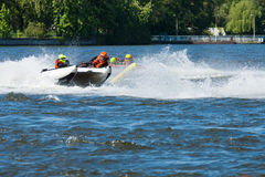 Demonstration rides on speedboats Royalty Free Stock Photography