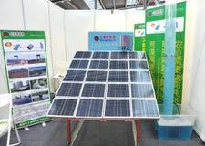 demonstration som pumpar det sol- solartechsystemet Royaltyfri Bild