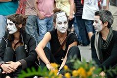 demonstration spain för 19j barcelona Royaltyfria Foton