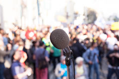 Demonstration. Street protest. Political rally. Royalty Free Stock Image