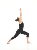 Demonstration of stretching yoga posture Stock Photo