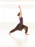 Demonstration of stretching yoga posture Stock Image