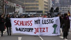 Demonstration - Stuttgart 21 Royalty Free Stock Images