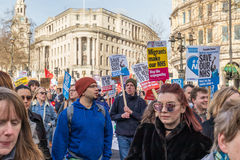 Demonstration to save the NHS Royalty Free Stock Photography