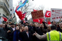Demonstration of Turkish community in Paris Royalty Free Stock Photo