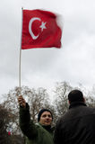 Demonstration of Turkish community in Paris Royalty Free Stock Photography