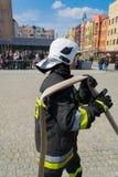 Demonstration von Rettungsdiensten. Lizenzfreies Stockbild