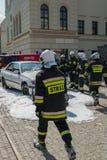 Demonstration von Rettungsdiensten. Stockfoto