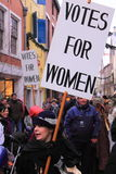 Demonstration for women's rights stock photography