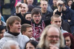 Demonstration of Worker's party in Ostrava Stock Images