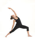 Demonstration of yoga pose Stock Images
