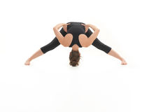 Demonstration of yoga pose Stock Image