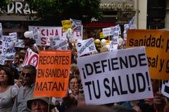 Demonstration zugunsten des öffentlichen Gesundheitsdiensts 35 Lizenzfreie Stockfotos