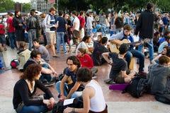 demonstrationen 2011 kan spanjor Royaltyfria Foton
