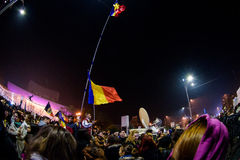 Demonstrations against corruption in Bucharest Royalty Free Stock Photography