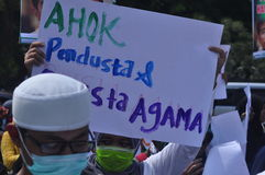 Demonstrations anti Ahok in Semarang Royalty Free Stock Photo