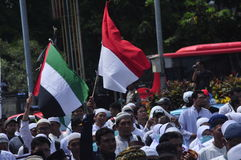Demonstrations anti Ahok in Semarang Stock Image