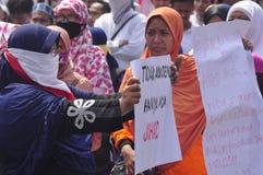 Demonstrations anti Ahok in Semarang Stock Images