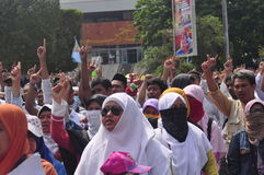 Demonstrations anti Ahok in Semarang Royalty Free Stock Photos
