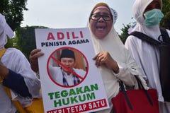 Demonstrations anti Ahok in Semarang Stock Photos