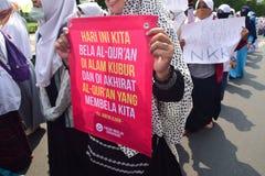 Demonstrations anti Ahok in Semarang Royalty Free Stock Image