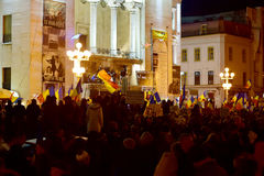 Demonstrations fighting corruption in Timisoara Romania February Stock Photography