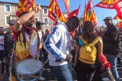 Demonstrations- och protestinvandrare Arkivfoto
