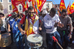 Demonstrations- och protestinvandrare Arkivbild