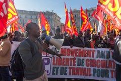 Demonstrations- och protestinvandrare Arkivfoton
