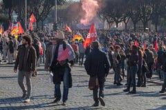 Demonstrations- och protestinvandrare Royaltyfri Fotografi