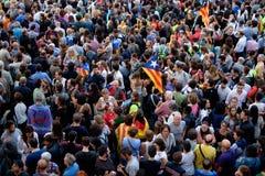 Demonstrations-Unabhängigkeit Katalonien 20/09/2017 Stockbilder