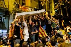 Demonstrations-Unabhängigkeit Katalonien 20/09/2017 Stockfotografie