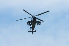 Demonstrationsflug von Hubschrauberangriff Eurocopter-Tiger UHT Lizenzfreie Stockfotografie