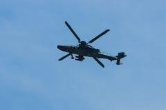 Demonstrationsflug von Hubschrauberangriff Eurocopter-Tiger UHT Lizenzfreies Stockfoto