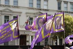 demonstrationsrajavi Royaltyfri Bild