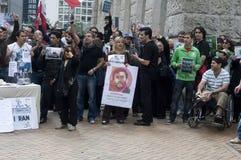 demonstrationsvalet politiska iran samlar Royaltyfri Foto