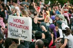 Demonstrationszug Stockbild