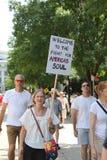 Demonstrationszug in DC stockfoto