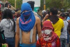 Demonstrationszug gegen Wiederwahl von Juan Orlando Hernandez Honduras 15 am 21. Januar 2018 Lizenzfreie Stockbilder