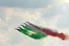 Demonstrative performance of aerobatic team Royalty Free Stock Photos