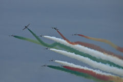 Demonstrative performance of aerobatic team Stock Photo