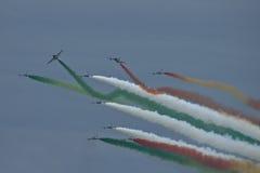Demonstrative performance of aerobatic team Stock Photo