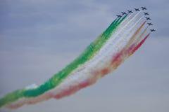 Demonstrative performance of aerobatic team Royalty Free Stock Photo