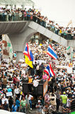Demonstrators  from anti-government V for Thailand groups wear Stock Image