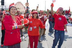 Demonstrators converged on the Thai capital Royalty Free Stock Photos