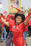 Demonstrators converged on the Thai capital Stock Photography