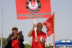 Demonstrators converged on the Thai capital Royalty Free Stock Photo
