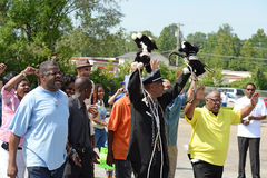 Demonstrators in Ferguson, MO Stock Photography