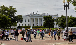 Demonstrators in Front of the White House Royalty Free Stock Photography